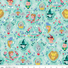 By 1/2 Yard Riley Blake Wizard of Oz Fabric ~ Dorothy's Journey Vignette in Mint