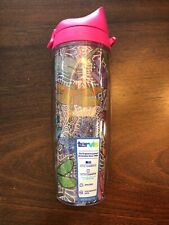 New Tervis Tumbler Water Bottle With Lid DRAGONFLY Mandala 24 oz