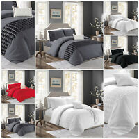 Embroidered Duvet Cover Set Single Double King Size Bedding Set With Pillow Case