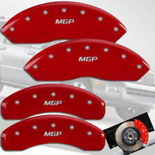 2006-2008 Mercury Mountaineer Front + Rear Red MGP Brake Disc Caliper Covers 4pc