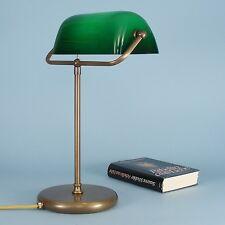 direkt vom Hersteller Bankerlampe Schreibtischlampe Tischlampe Messing grün 48C