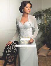 NWT Jordan Caterina Coll 7003 MOB evening formal cruise dress powder  blue 10
