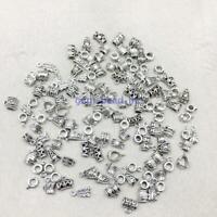 100 Pcs Tibetan Silver Spacer Bead Connectors Charms Pendants DIY Jewelry Making