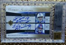 PEYTON MANNING ELI MANNING 06UD ULTIMATE COLLECTION ULTIMATE SIGNATURES DUALAUTO