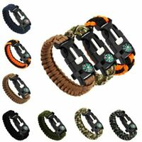 Outdoor Survival Bracelet Kompass Feuer Starter Scraper Whistle Gang Kits