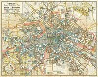 MAP ANTIQUE 1904 LEO CENTRAL BERLIN STREET PLAN REPLICA POSTER PRINT PAM0420