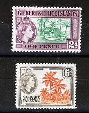 GILBERT & ELLICE ISLANDS 1964-65 DEFINITIVES SG85/86 MNH