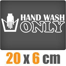 Hand Wash Only 20 x 6 cm JDM Decal Sticker Aufkleber Racing Die Cut