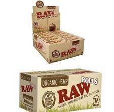 RAW ORGANIC Hemp Roll-  Rolling Paper Full Case