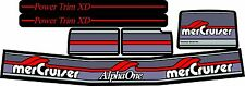 MERCRUISER THE ORIGINAL COLORS ALPHA ONE GEN TWO W/RED RAMS STICKER SET