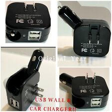 2.1A 2-in-1 Dual Port USB Car Wall Home Travel Charger Combo