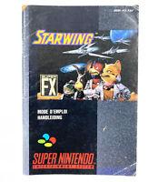 Notice / Livret du jeu Starfox / Starwing - Nintendo SNES / Super Nintendo - FAH