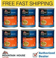 New Mountain House Vegetable Stew with Beef Case of 6 Cans,Free Shipping