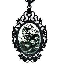 Swarm of Vampire Bats Cameo Pendant Necklace Full Moon Goth Punk Alternative Emo