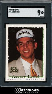1994 Topps Jason Kidd Rookie RC #37 SGC 9 MINT HOF 🏆