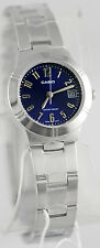Casio LTP-1241D-2A2 Ladies Analog Steel Band Watch Blue with Date Display New