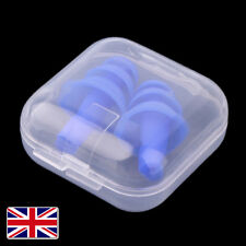 Soft Silicone Ear Plugs In  Box Anti Noise Sleep Work Study Reusable Foam UK