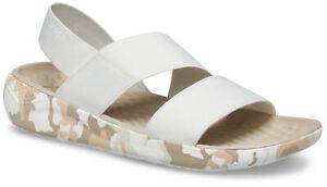 crocs Sandale mit Fersenriemen Literide Strech Sandal Women Almost Weiß Croslite