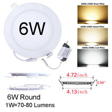 ULtra Thin LED Recessed Ceiling Panel Light Downlight Flat Lamp Fixture Dimmable