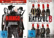 2 DVDs * QUENTIN TARANTINO-WESTERN SET (DJANGO UNCHAINED+HATEFUL 8) # NEU OVP <+