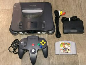 Nintendo 64 Console System w/Mario Kart N64 Complete Works Great Condition OEM