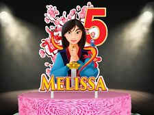 Mulan Cake Topper, Personalized Topper, Custom Cake Topper