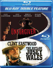 Unforgiven/The Outlaw Josey Wales (Blu-ray Disc, 2014, 2-Disc) Free Ship #S9158