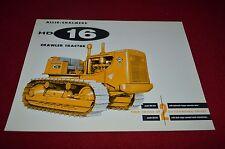 Allis Chalmers HD-16 Crawler Tractor Dealer Brochure YABE11 Ver46