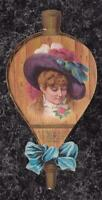 Victorian Trade Card H O'Neill & Co NY Die Cut Bellows Woman in Dead Bird Hat 9""