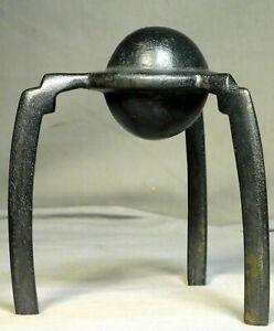 Vintage Abstract Sculpture Robert Schelling Bronze Deco Orb Industrial Archetype