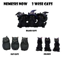 More details for nemesis now black cats 3 wise cat see no evil hear no evil speak no evil felines