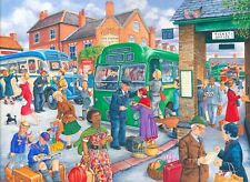 House of Puzzles Big 500 piece jigsaw puzzle Bus Station - New & Sealed
