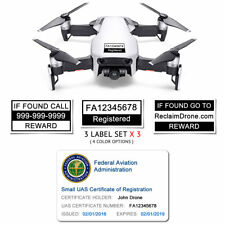 DJI Mavic Air - White - FAA UAS Registration ID Card + Labels for Hobbyist Pilot