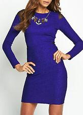 Définitions Texturé Amovible Collier Robe Moulante Taille 10 UK Neuf Avec Étiquettes