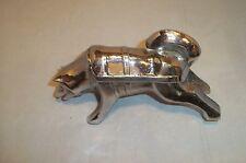 Heavy Metal Vintage Silver Brockway Motor Truck Husky Dog Hood Ornament
