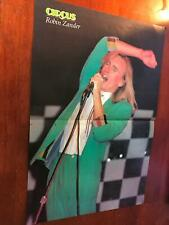 1980 Vintage 2Pg Magazine Centerfold Poster Clipping Of Robin Zander Cheap Trick
