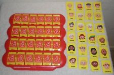 2005 GUESS WHO ? Mystery Face GUESSING GAME Replacement RED BOARD + 24 Cards