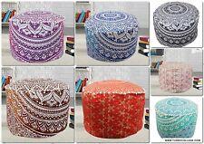 10 PCs Lot bohemian ottoman pouffe cover Cotton mandala Floor Pillow Footstool