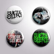 4 SUICIDE SILENCE - Pinbacks Badge Button Pin 25mm 1''