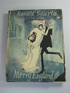 Merry England, Etc. by Ronald Searle - HB 1956 [Cartoons, Humour]