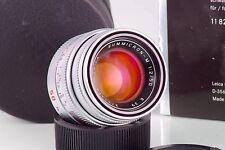 Rare Leitz Leica 11816 SUMMICRON-M 2 50mm 50 Silver E39 As New Condition IN Box