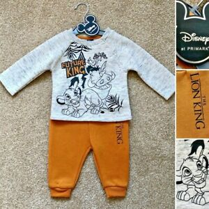 Disney THE LION KING SIMBA Unisex Outfit Set Clothes - 2-3 Years - Primark New!