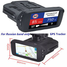 Car DVR Camera Anti-Radar Detector Alarm Video Recorder GPS Tracker + Russia Map