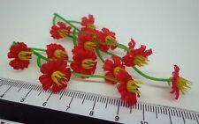 1:12th 15 fleurs maison de poupées miniatures jardin (x 3 grappes)