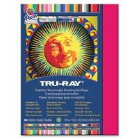 "Tru-ray Heavyweight Construction Paper - 12"" X 9"" - Scarlet (103008)"