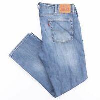 LEVI'S 514 Blue Denim Slim Straight Jeans Mens W38 L32