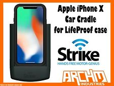 STRIKE ALPHA APPLE IPHONE X CAR CRADLE FOR LIFEPROOF CASE - BUILT-IN CHARGER