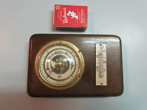 Retro BARIGO BAROMETER THEMOMETER WALL DISPLAY Weather forecast C.1960's