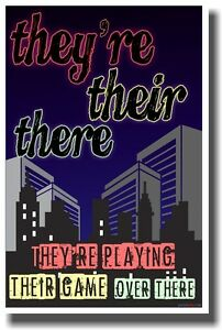They're Their There - NEW Classroom Reading and Writing Poster