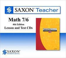 Saxon Math 76 Homeschool Teacher Lesson & Test CDs 7/6